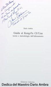 Dedica del maestro Dario Ambra
